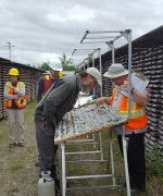 David Broughton inspects core at Douay Project Site
